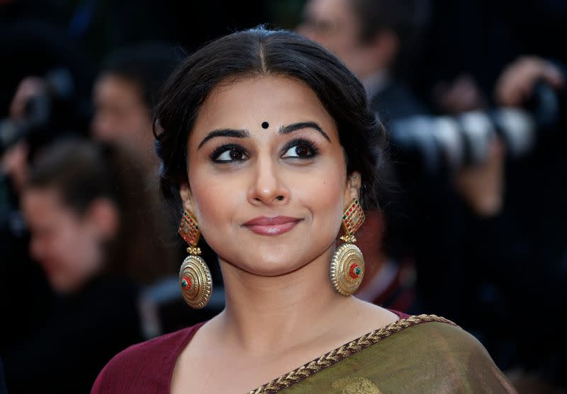 """Jury Member actress Vidya Balan arrives for the screening of the film """"Inside Llewyn Davis"""" in competition during the 66th Cannes Film Festival"""