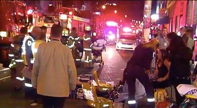 At least one person was taken to hospital following the attack. Photo: 7 News