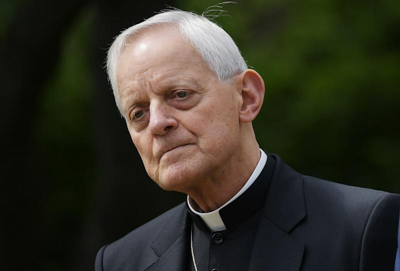 Donald Wuerl, pictured in 2017, resigned as archbishop of Washington accused of not having done enough to deal with paedophile priests