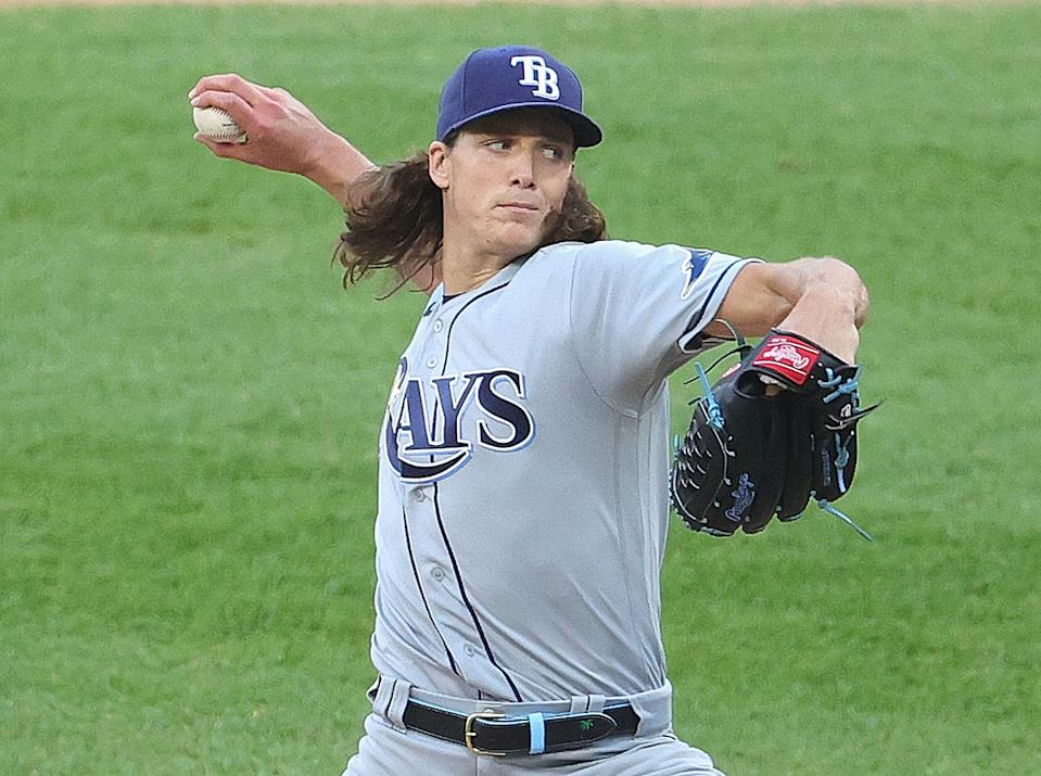 Starting pitcher Tyler Glasnow of the Tampa Bay Rays