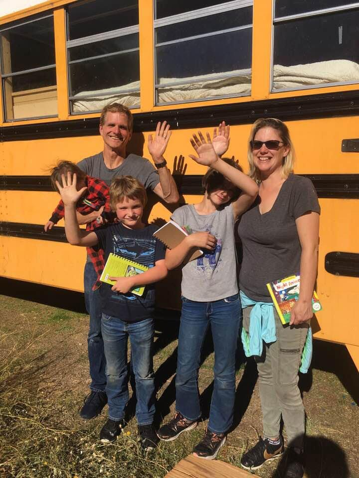 Oregon Woman Turns School Buses Into Tiny Homes for Working Homeless Families