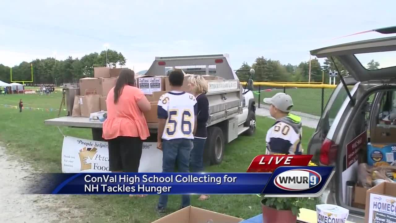 WMUR has teamed up with the New Hampshire Food Bank and the high school football community to try to tackle hunger in New Hampshire.