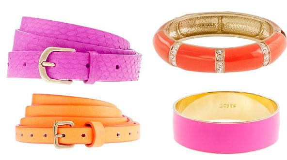 Afraid Of Neon Clothes? Try Bright Accessories Instead.