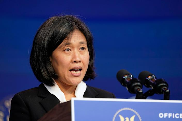 Katherine Tai is the Biden administration's choice to take over as the U.S. trade representative.