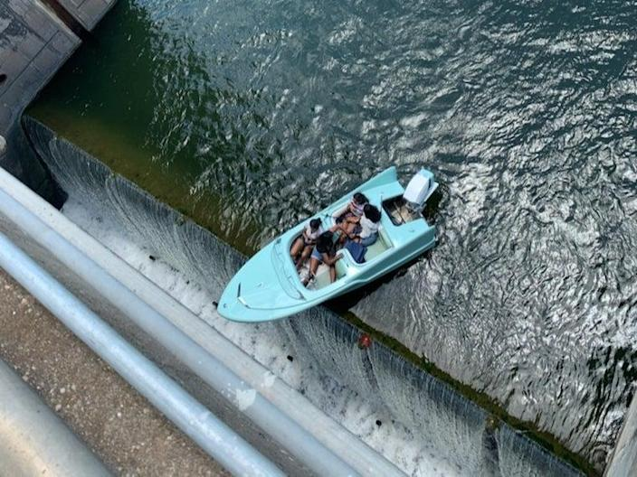 Austin-Travis County EMS responded to the situation and helped successfully rescue boaters (Austin-Travis County EMS)