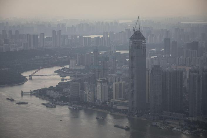 <p><strong>Location:</strong> Wuhan, China</p><p><strong>Height:</strong> 1,562 feet</p><p><strong>Completion:</strong> 2022 (estimated)</p><p>Work on this skyscraper—which is still under construction—began in June 2012 and will feature hotel rooms and office space in addition to parking space, banquet halls, and even bike storage space. Originally, the Wuhan Greenland building was going to be 2,087 feet tall but that plan was scrapped because of air space restrictions.</p>
