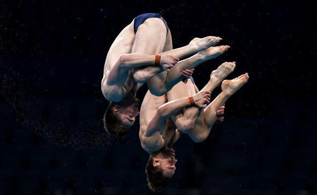 Great Britain's Tom Daley and Matty Lee in perfect synchronicity