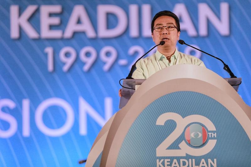 Chang Lih Kang speaks during the 2019 PKR National Congress at MITC in Melaka December 8, 2019. — Picture by Ahmad Zamzahuri