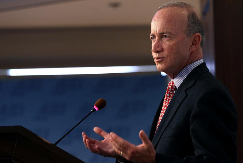 "Former Indiana Gov. Mitch Daniels, who pushed for the choice program at the start, said choosing a private school is ""not just about SAT scores."" (Mark Wilson/Getty Images)"