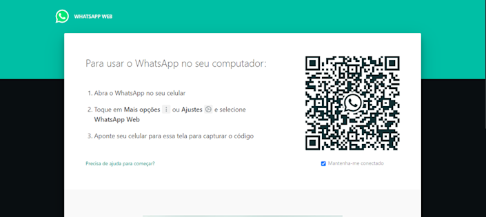 Acesse a plataforma do WhatsApp Web através do QR Code - (Captura: Canaltech/Felipe Freitas)