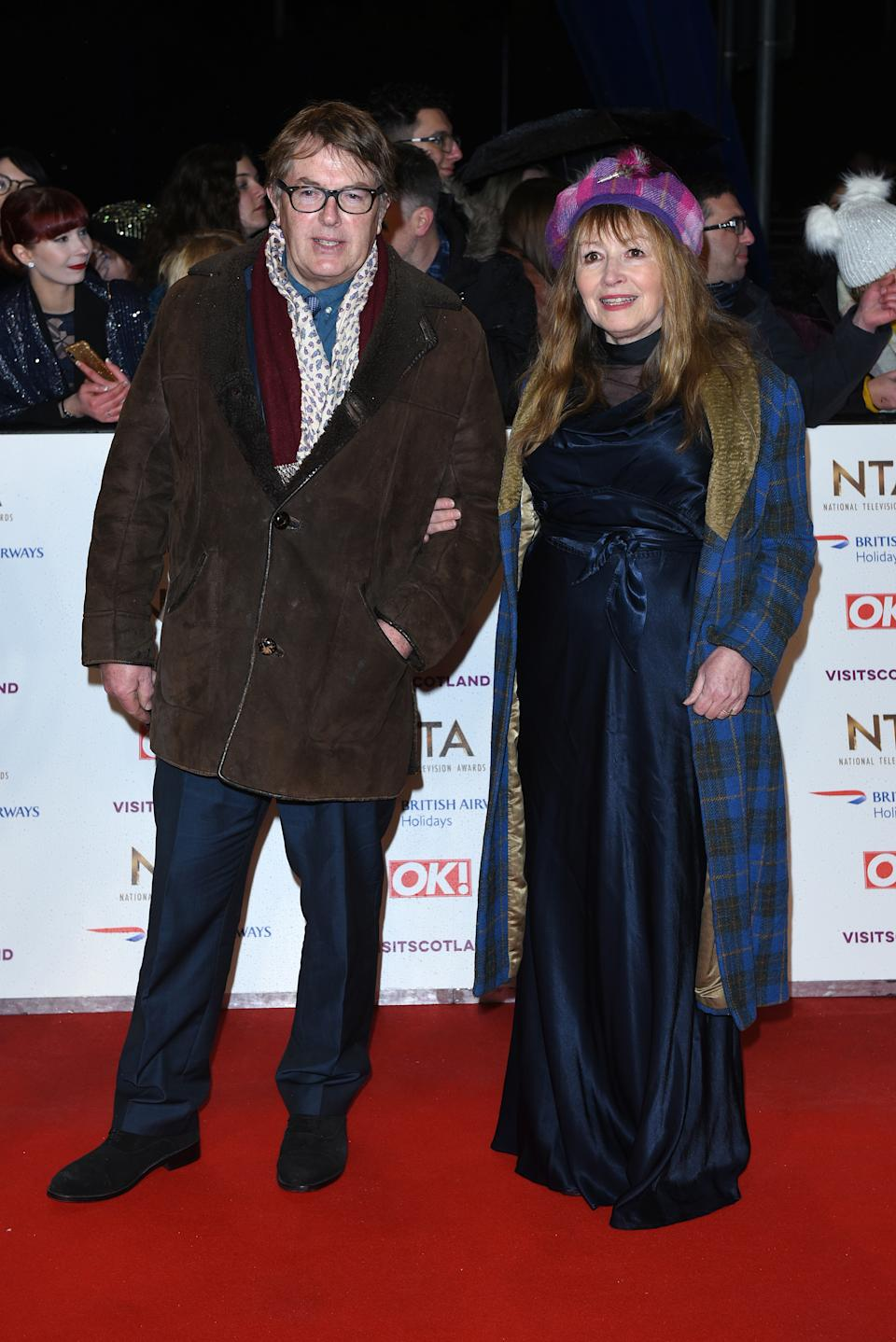 Mary Killen and Giles Wood  attend the National Television Awards held at The O2 Arena on January 22, 2019 in London, England. (Photo by Joe Maher/WireImage)