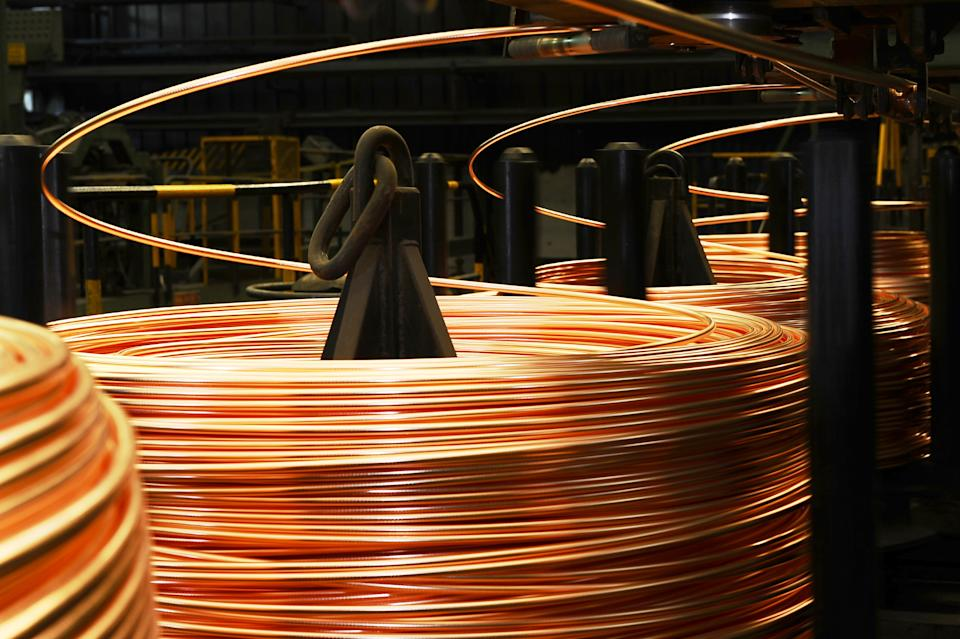 Copper hit more than $10,200 per tonne for the first time last week. Photo: Getty