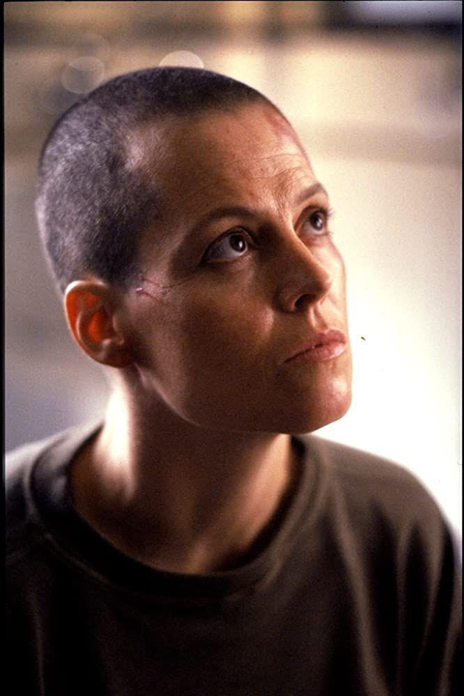 <p><strong>Shaved</strong></p><p>Although her hair was dark and curly in the first two <em>Alien</em> films, it was 1992's <em>Alien 3</em> that showed off her shaved head and dedication to the role<em>. </em></p>