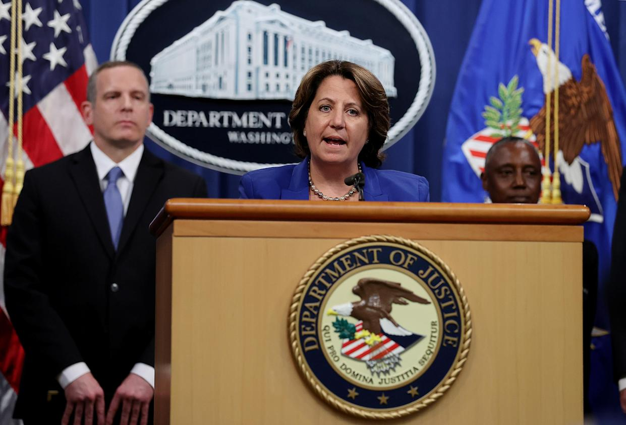Deputy US attorney general Lisa Monaco announces the recovery of millions of dollars worth of cryptocurrency from the Colonial Pipeline Co. ransomware attacks at the Justice Department in Washington DC on 7 June. Photo: Jonathan Ernst/Reuters