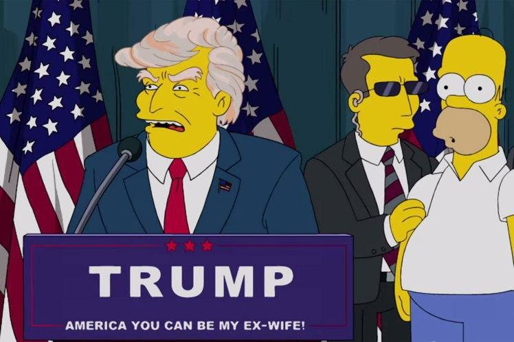 The simpsons predicted Donald Trump's presidency but never believed it could happen. (FOX)