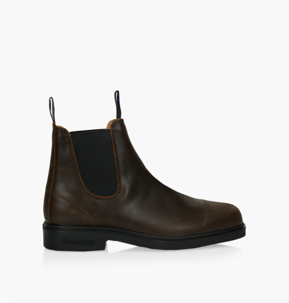 Blundstone Winter Thermal Dress Boots in dark brown leather and black details