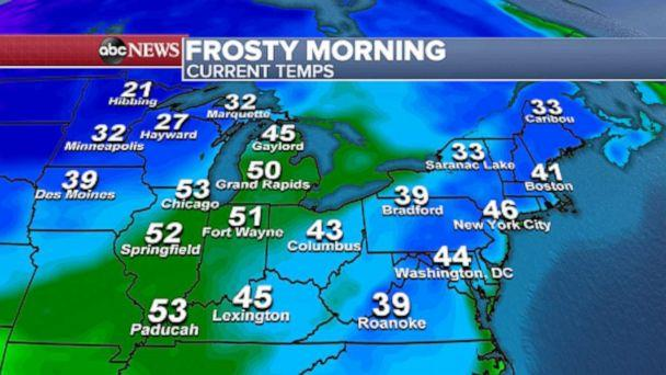PHOTO: Frost Advisories are in effect for mountainous areas from Appalachians in North Carolina into parts of upstate New York through Massachusetts. (ABC News)