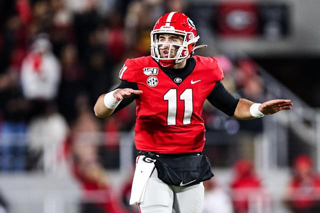 Georgia QB Jake Fromm has long been considered a candidate for the 2020 NFL draft, but that might be changing. (Photo by Carmen Mandato/Getty Images)
