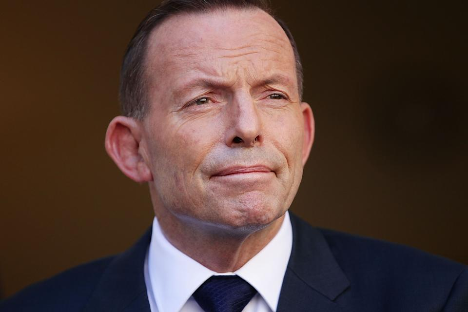 Police attended Tony Abbott's Manly office after someone dumped poo on its doorstep over night. Source: Getty Images