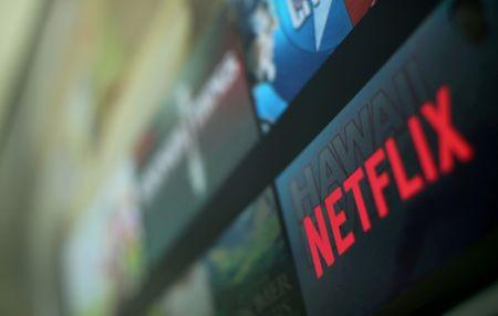 FILE PHOTO: The Netflix logo is pictured on a television in this illustration photograph taken in Encinitas, California, U.S., January 18, 2017.  REUTERS/Mike Blake/File Photo