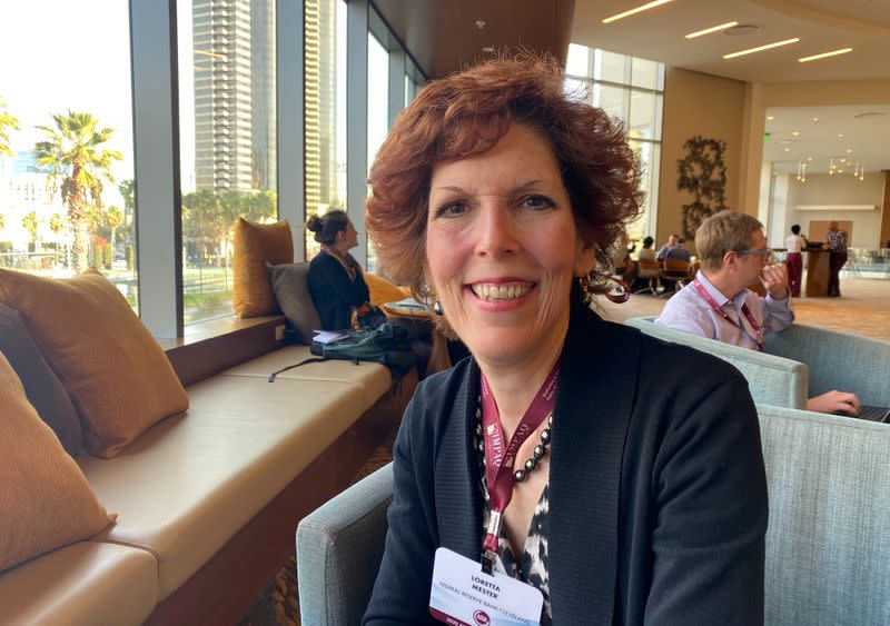 Cleveland Federal Reserve Bank President Loretta Mester poses during an interview on the sidelines of the American Economic Association's annual meeting in San Diego