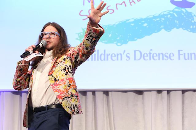 CK Swett hosting a live auction at the Children's Defense Fund's Beat the Odds Gala at the Pierre Hotel on February 29, 2016 in New York City (Monica Schipper/Getty Images)