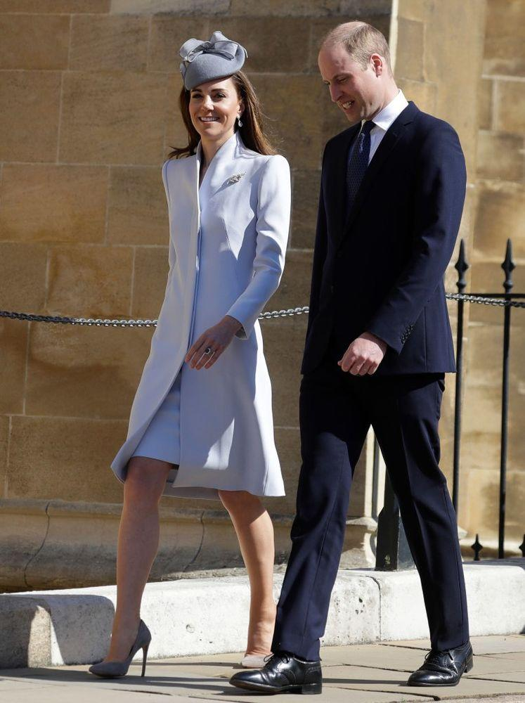 Kate Middleton and Prince William on Easter | KIRSTY WIGGLESWORTH/AFP/Getty Image