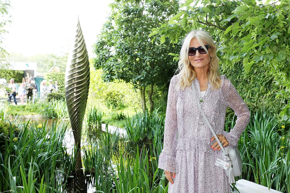 Gaby Roslin attends 'The Savills and David Harber Garden' which celebrates the environmental benefit and beauty of trees, plants and gardens in urban spaces at Chelsea Flower Show
