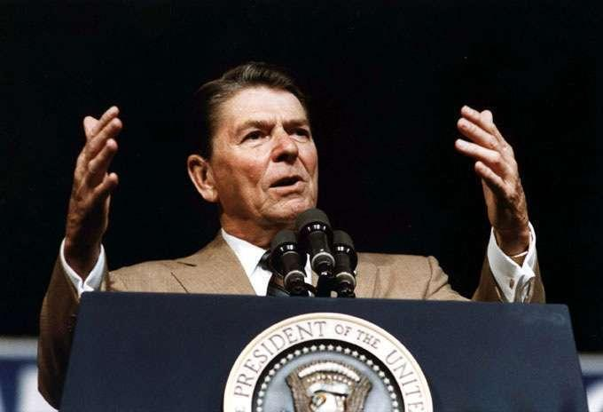 "President Reagan in 1981. <span class=""copyright"">(American Vantage Media)</span>"