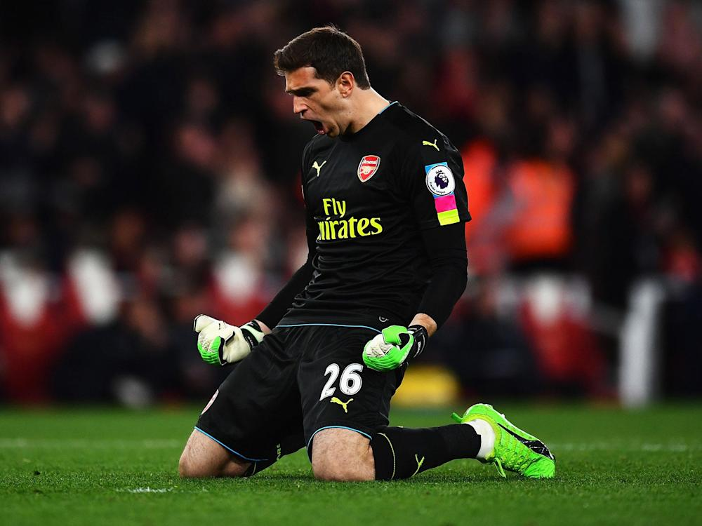 Emiliano Martinez will remain in goal for Arsenal with Petr Cech and David Ospina injured: Getty
