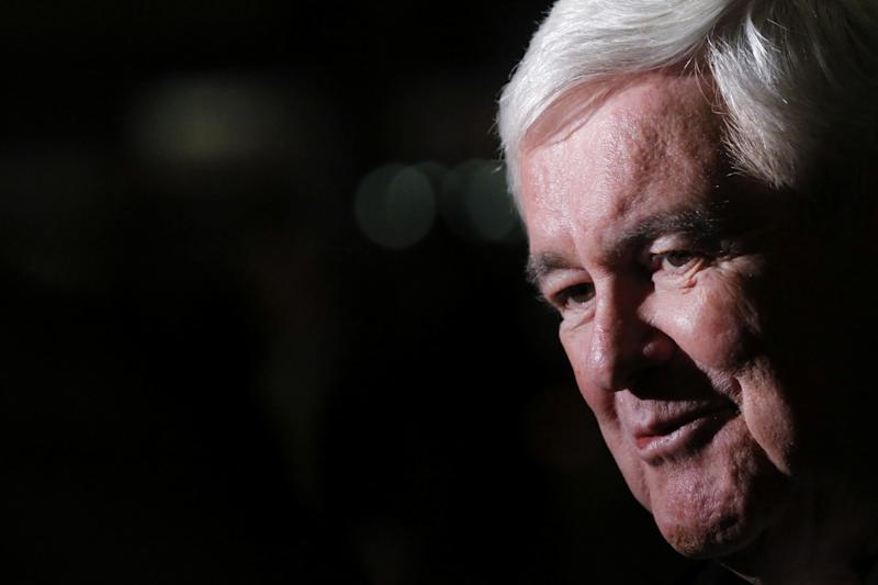 Newt Gingrich speaks to the media as he departs after a meeting with U.S. President-elect Donald Trump at Trump Tower in New York, U.S., November 21, 2016. (Photo: Lucas Jackson/Reuters)