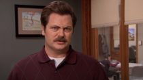 """<p>Ron Swanson of <em>Parks and Rec</em> doesn't trust the government, so he invests in precious metals, as ya do. He outlines his strategy in one episode, explaining, """"Ever since I got my first job at the age of nine, I've put all my money in gold, which is currently at an all time high."""" While it's certainly debatable whether gold is a savvy choice these days, his decision to invest his paycheck rather than park it in a savings account is a good one—think of your cash's potential earning capacity! </p>"""