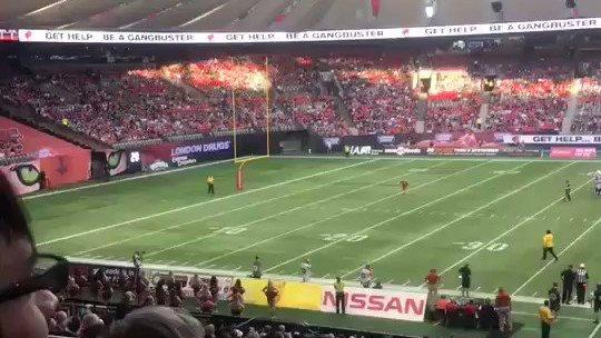"<p>BC Lions defensive back <a href=""http://theprovince.com/sports/football/cfl/bc-lions/video-lions-db-marcell-young-absolutely-crushes-fan-on-the-field-with-shoulder-check"" rel=""nofollow noopener"" target=""_blank"" data-ylk=""slk:Marcell Young"" class=""link rapid-noclick-resp"">Marcell Young</a> body-slammed a football fan to the ground after the fan ran onto the field during the <a href=""https://www.bclions.com/2018/06/16/roar-report-lions-prevail-defensive-battle-alouettes/"" rel=""nofollow noopener"" target=""_blank"" data-ylk=""slk:Lions' pre-season win"" class=""link rapid-noclick-resp"">Lions' pre-season win</a> over the Montreal Alouettes on June 16.</p><p>The fan took off his shoes and trousers before he hopped the perimeter fence and raced onto the field during a first-quarter stoppage.</p><p>A clip shared to Twitter by British Colombia resident Darren Lundi shows the fan running the length of the field before he's knocked to the ground by Young.</p><p>The clip had earned over 86,000 views at the time of writing. Credit: Darren Lundi via Storyful</p>"