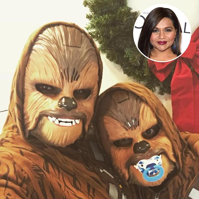 "<p>The hilarious Kaling is such a <em>Star Wars</em> fangirl that she <a href=""https://www.instagram.com/p/_cZzVQpQ3M/"" rel=""nofollow noopener"" target=""_blank"" data-ylk=""slk:dressed as Chewbacca"" class=""link rapid-noclick-resp"">dressed as Chewbacca</a> on a holiday card. However, she revealed on <em>The Tonight Show</em> that she enjoys trolling people like herself. ""What's Han Solo?"" she said she asks. ""Who's Luke Skywalker? What's his deal? I'm so busy getting my nails done. I'm an actress."" (Photo: Mindy Kaling via Instagram/AP) </p>"