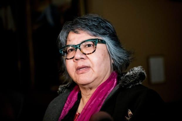 Former Ontario regional chief RoseAnne Archibald of the Taykwa Tagamou Nation (formerly New Post First Nation) became national chief of the Assembly of First Nations on Thursday. (Christopher Katsarov/The Canadian Press - image credit)