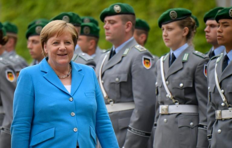 Merkel's latest shaking bout struck as she received the Finnish prime minister in Berlin (AFP Photo/Tobias SCHWARZ)