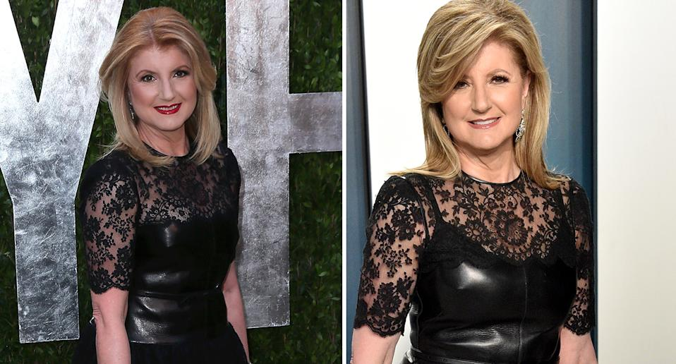For this year's Vanity Fair Oscars party, the author and businesswoman re-wore the same Valentino dress she wore for the same event in 2013. (Getty Images)