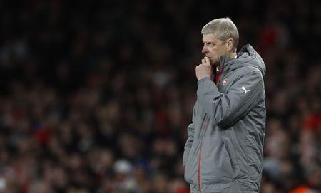 Britain Soccer Football - Arsenal v Leicester City - Premier League - Emirates Stadium - 26/4/17 Arsenal manager Arsene Wenger Reuters / Stefan Wermuth Livepic