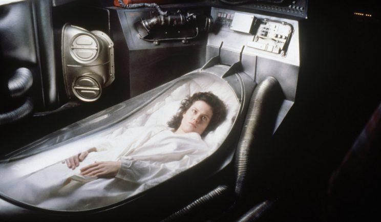 Sigourney Weaver getting ready for hypersleep - Credit: OutNow