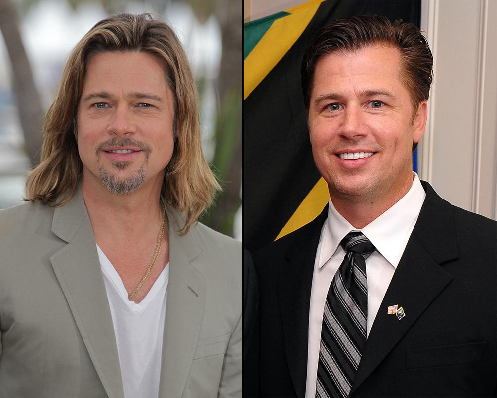 "Brad Pitt, who was Golden Globe nominated for his work in ""Moneyball,"" isn't the only kid in the family. Doug Pitt is a philanthropist and businessman and looks strikingly similar to his famous brother."