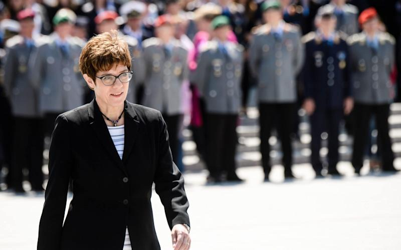 Annegret Kramp-Karrenbauer was appointed defence minister at a ceremoney in Berlin - REX