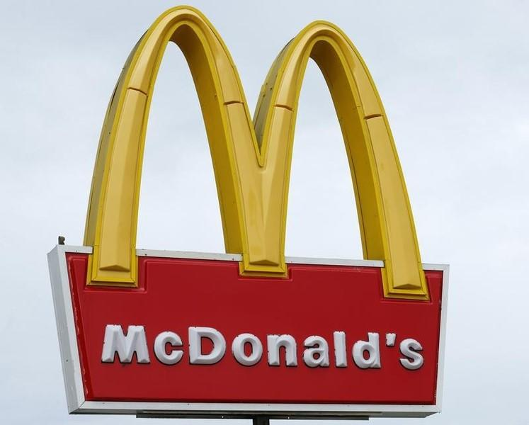 A McDonald's sign is shown outside one of their restaurants in Encinitas