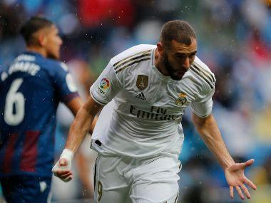 LaLiga: Karim Benzema's brace helps Real Madrid register nervy 3-2 win despite late Levante fightback