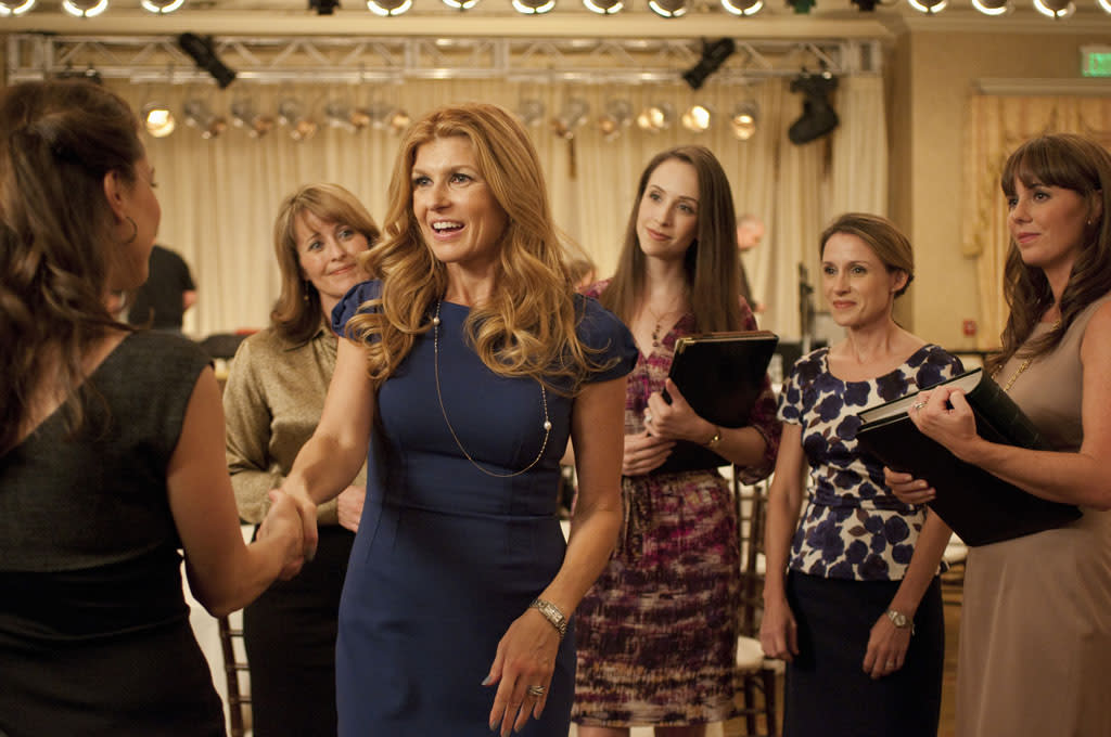 """Kimberly Williams-Paisley and Connie Britton in the """"Nashville"""" episode, """"We Live in Two Different Worlds."""""""