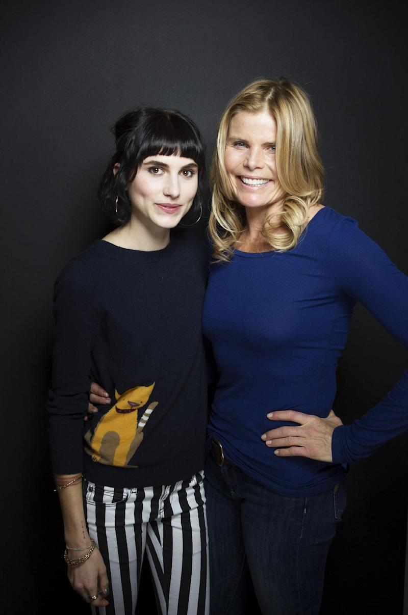 """Artist Langley Fox Hemingway, left, and actress Mariel Hemingway from the film """"Running From Crazy"""" pose for a portrait during the 2013 Sundance Film Festival on Sunday, Jan. 20, 2013 in Park City, Utah. (Photo by Victoria Will/Invision/AP Images)"""