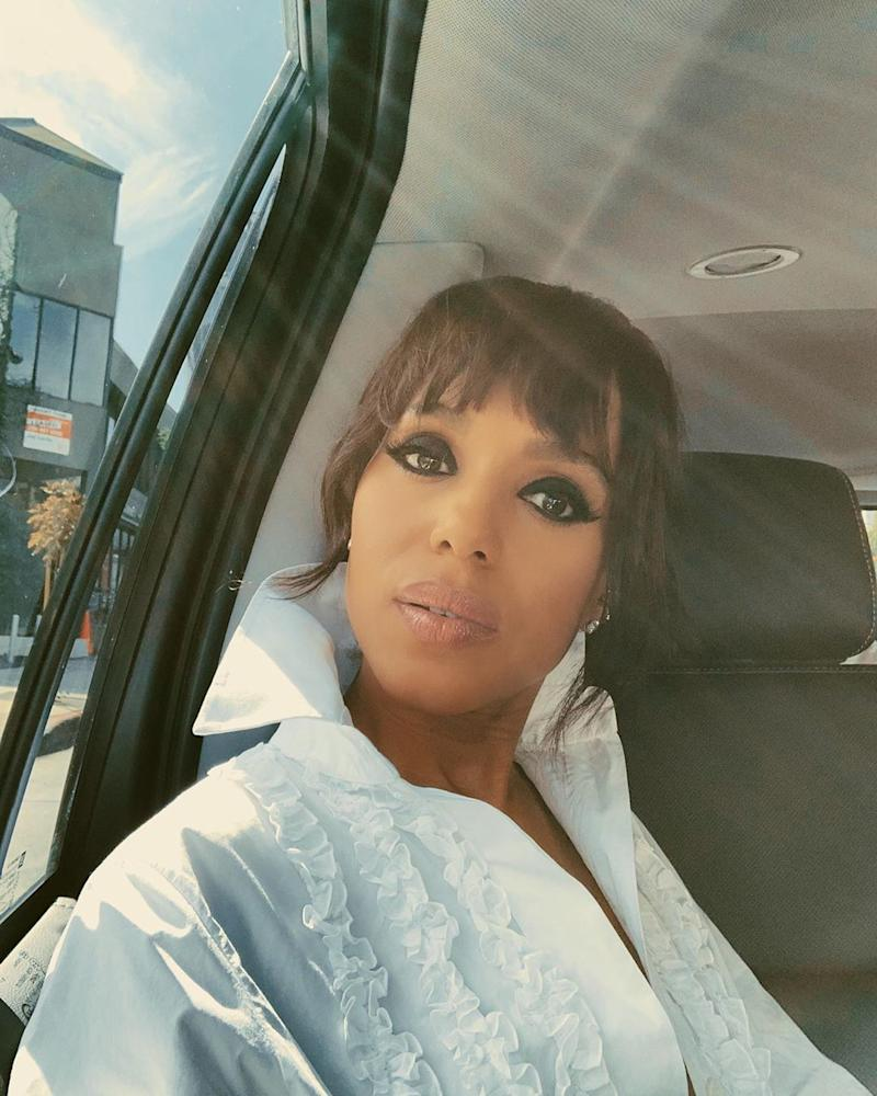 Kerry Washington on her way to the 2019 Emmy Awards