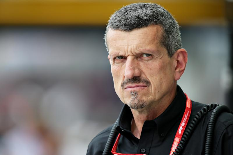 SINGAPORE, SINGAPORE - SEPTEMBER 20: Haas F1 Team Principal Guenther Steiner looks on in the Pitlane during practice for the F1 Grand Prix of Singapore at Marina Bay Street Circuit on September 20, 2019 in Singapore. (Photo by Charles Coates/Getty Images)