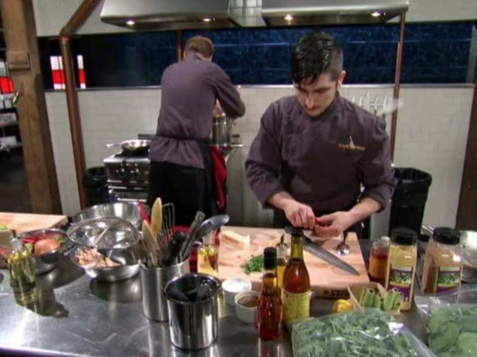 """<p>So that contestants know what ingredients are available to them in the pantry, each one is <a href=""""https://www.insider.com/chopped-facts-secrets-2018-6#contestants-can-bring-their-own-set-of-knives-to-the-chopped-kitchen-and-they-also-receive-instructions-for-the-on-set-appliances-3"""" rel=""""nofollow noopener"""" target=""""_blank"""" data-ylk=""""slk:given a walk through"""" class=""""link rapid-noclick-resp"""">given a walk through</a> before filming or cooking starts.</p>"""