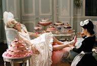 <p>To show the extent of Marie Antoinette's lavish lifestyle, director Sofia Coppola created a montage filled with champagne, french pastries, and, yes, plenty of shoes! </p>