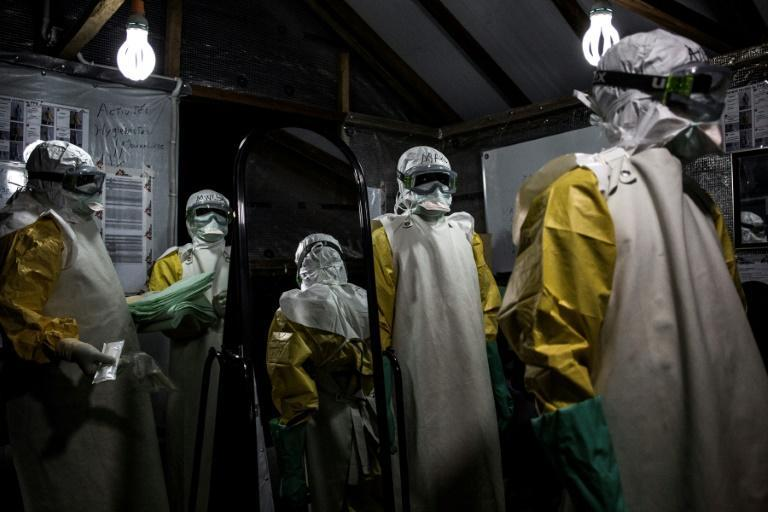 Health workers flooded into eastern DR Congo to help fight Ebola after the disease broke out in the region in August 2018 (AFP/John WESSELS)